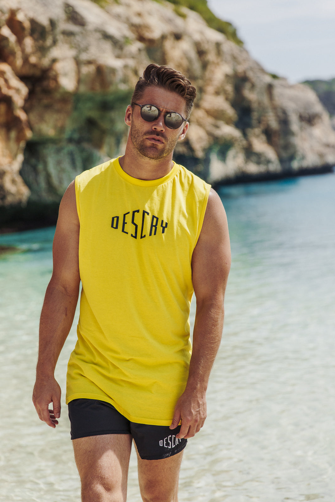 Yellow Signature Sleeveless T-Shirt