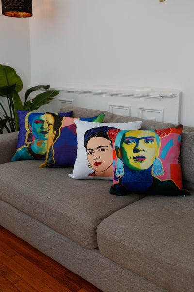 Purple Flowers Premium Throw Pillow -  - FRIDA VIBES