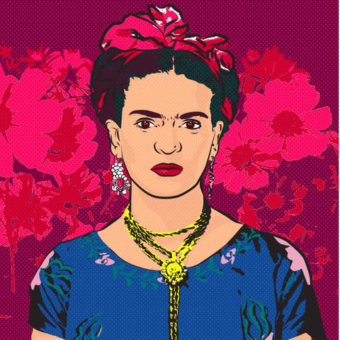 Frida's Flowers - Art Print -  - FRIDA VIBES