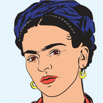 Frida Kahlo Print - Original Portrait by Anna Mollekin - Feminist Pop Art self portrait