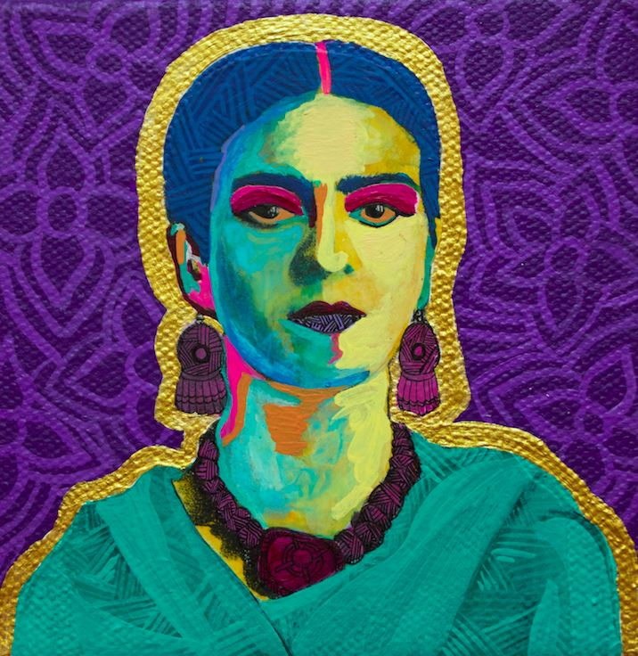 Purple Flowers - Frida Art Print -  - FRIDA VIBES