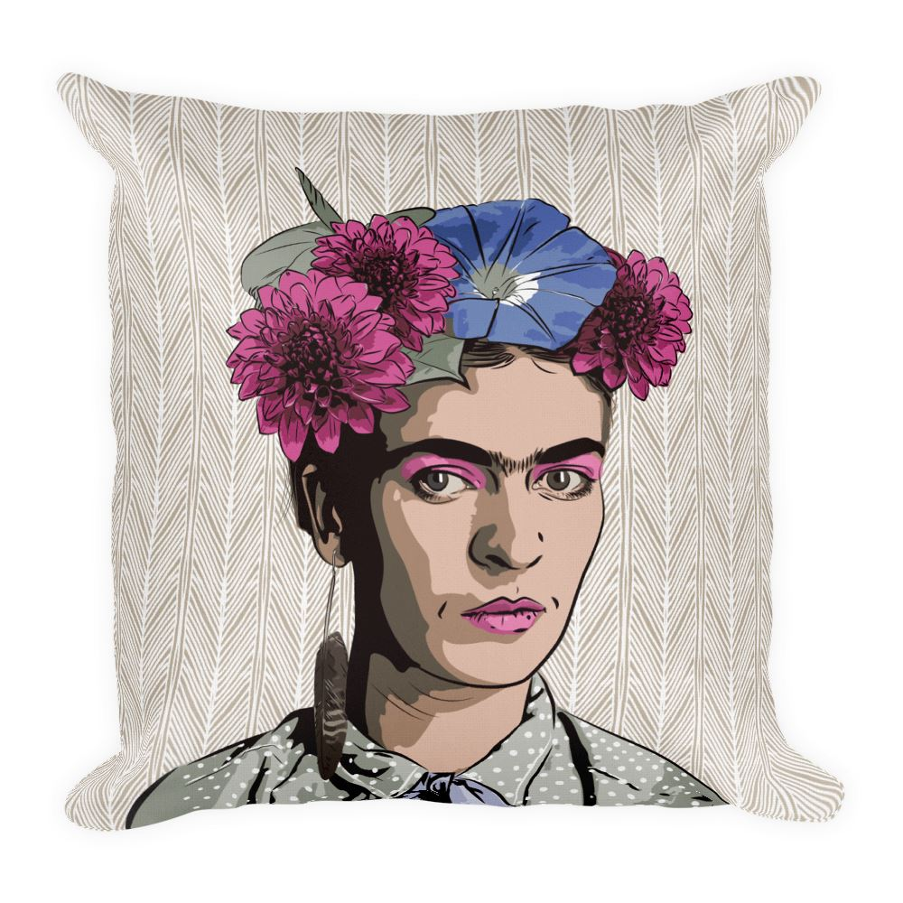 Dahlia Pinnata Premium Throw Pillow -  - FRIDA VIBES