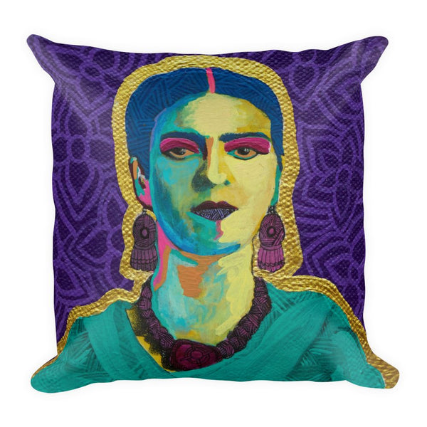 Purple Flowers Premium Throw Pillow - FRIDA VIBES