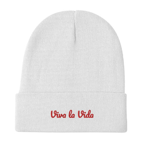 Viva la Vida Embroidered Beanie -  - FRIDA VIBES