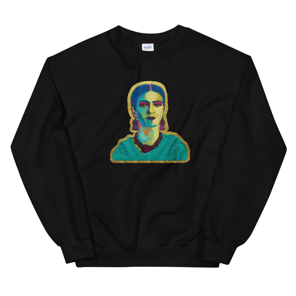 Purple Flowers Sweatshirt -  - FRIDA VIBES