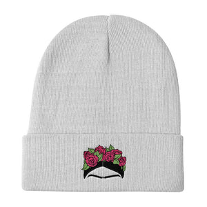 Frida Eyebrow Embroidered Beanie Winter Hat -  - FRIDA VIBES