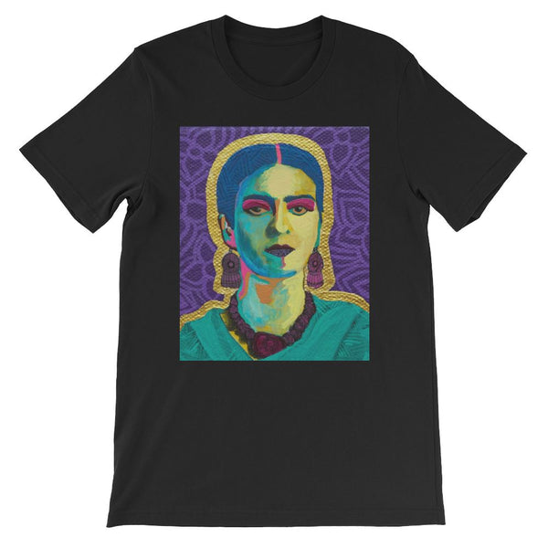 Purple Flowers Frida Art T-shirt -  - FRIDA VIBES