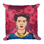 Frida's Flowers Premium Throw Pillow -  - FRIDA VIBES
