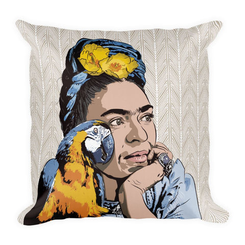 Wings to Fly Premium Throw Pillow - FRIDA VIBES
