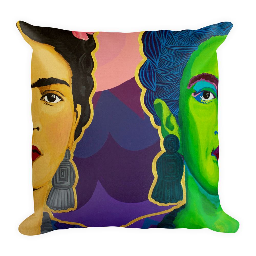 Frida Split in Two Premium Throw Pillow -  - FRIDA VIBES