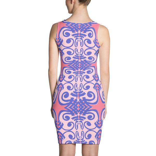 Concha Dress - Pink & Blue -  - FRIDA VIBES