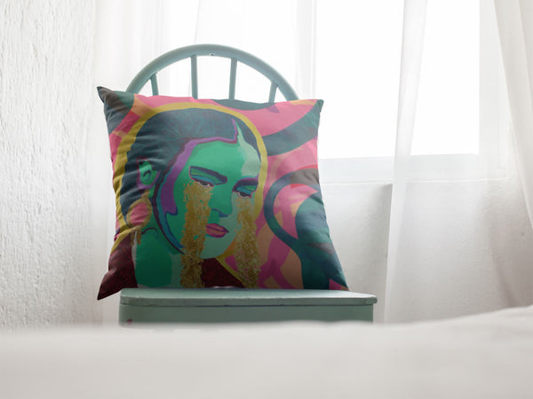 Come Forth as Gold Premium Throw Pillow - FRIDA VIBES