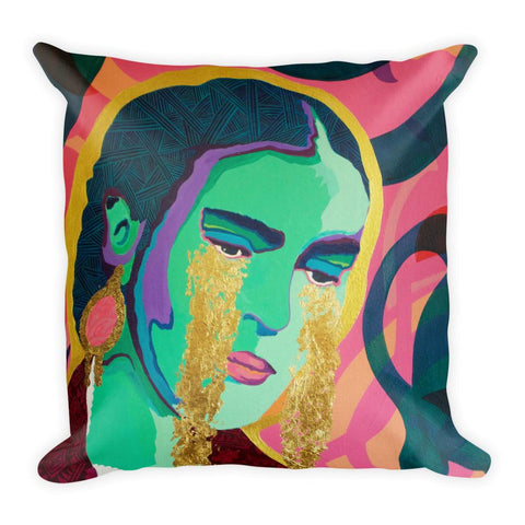 Come Forth as Gold Premium Throw Pillow -  - FRIDA VIBES