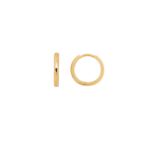 Classic Solid Gold Huggie Hoops