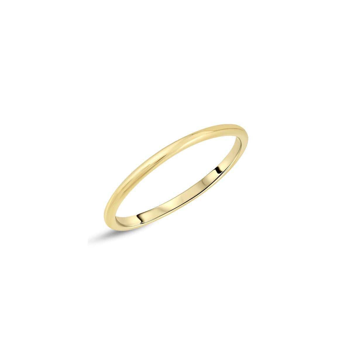 Thin Solid Gold Band