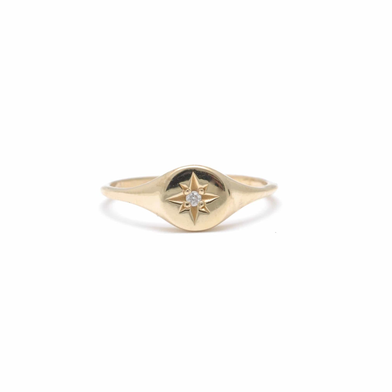 Star Signet Pinky Ring