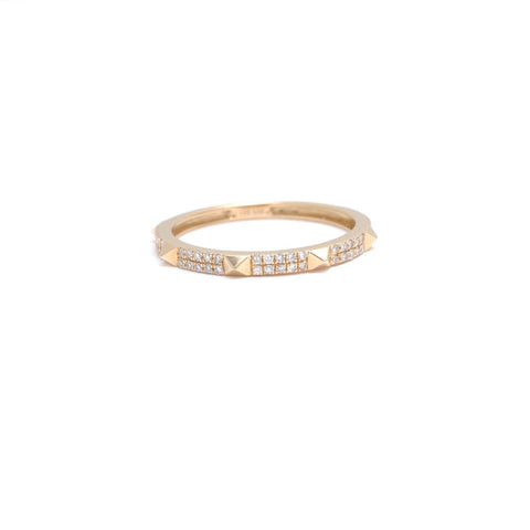Pave Diamond Open Cuff Ring