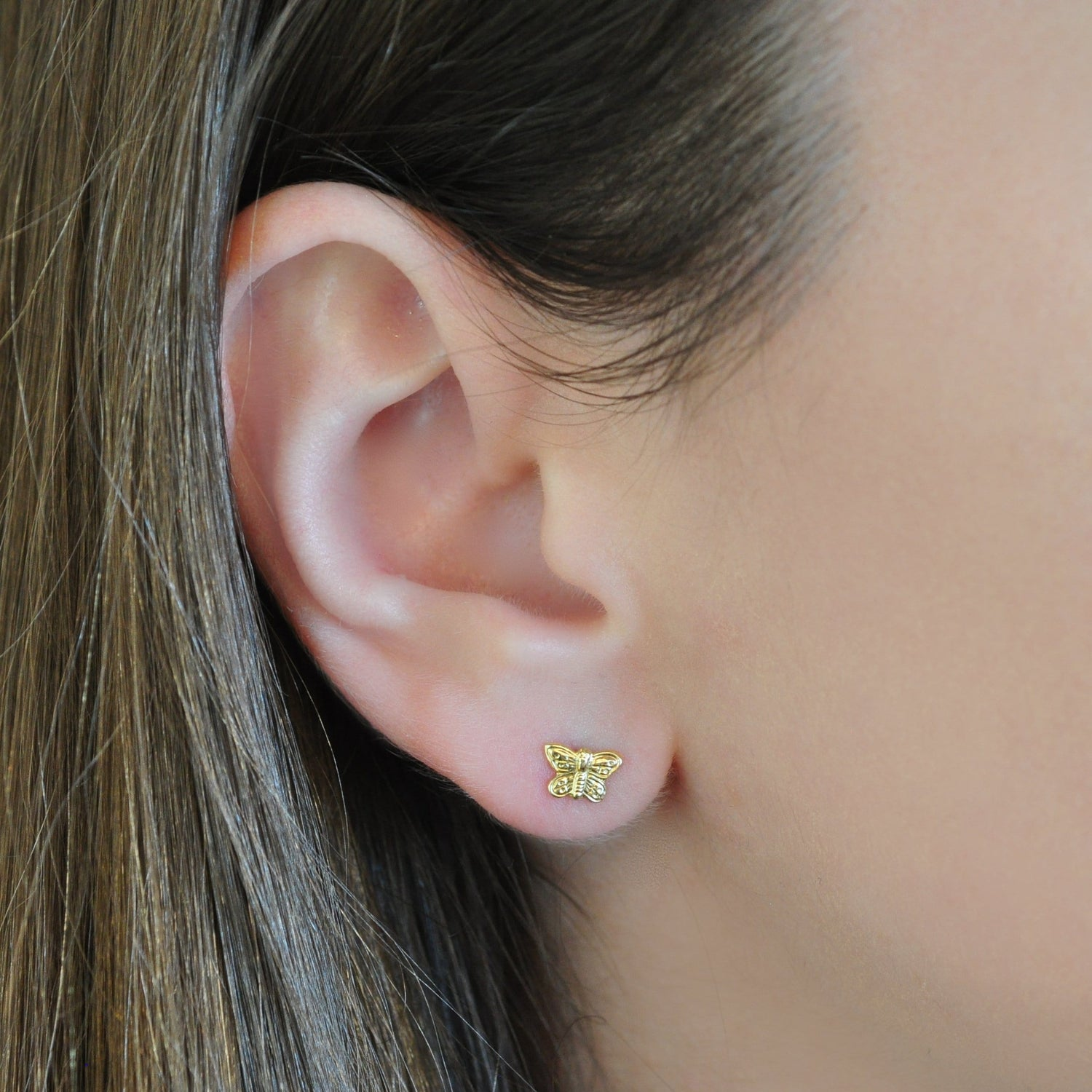 Yellow Gold Small Butterfly Studs