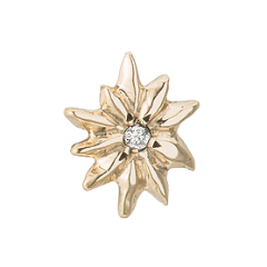Sunburst Diamond Yellow Gold Stud Earrings - Curated Los Angeles