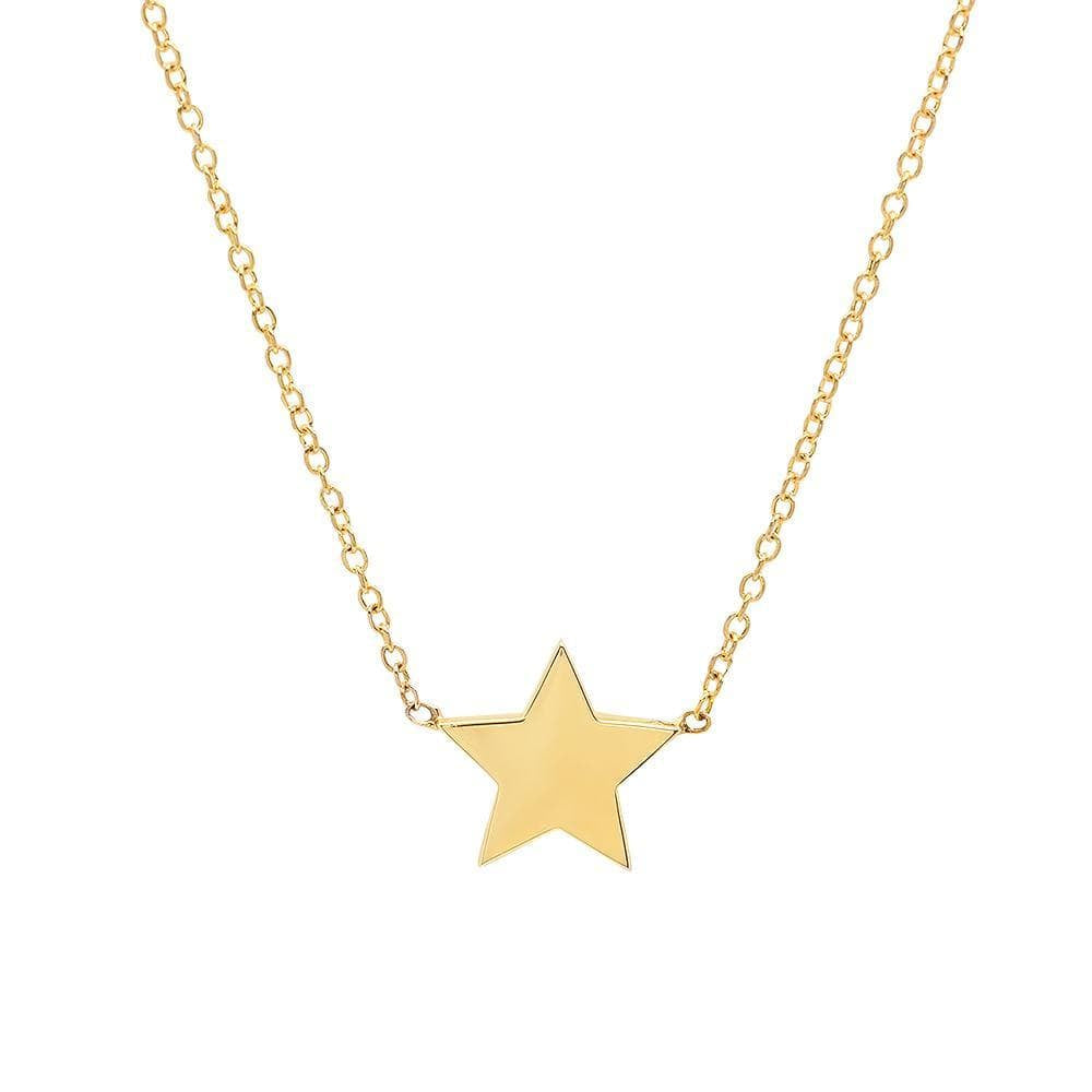 Five Point Gold Star Station Necklace