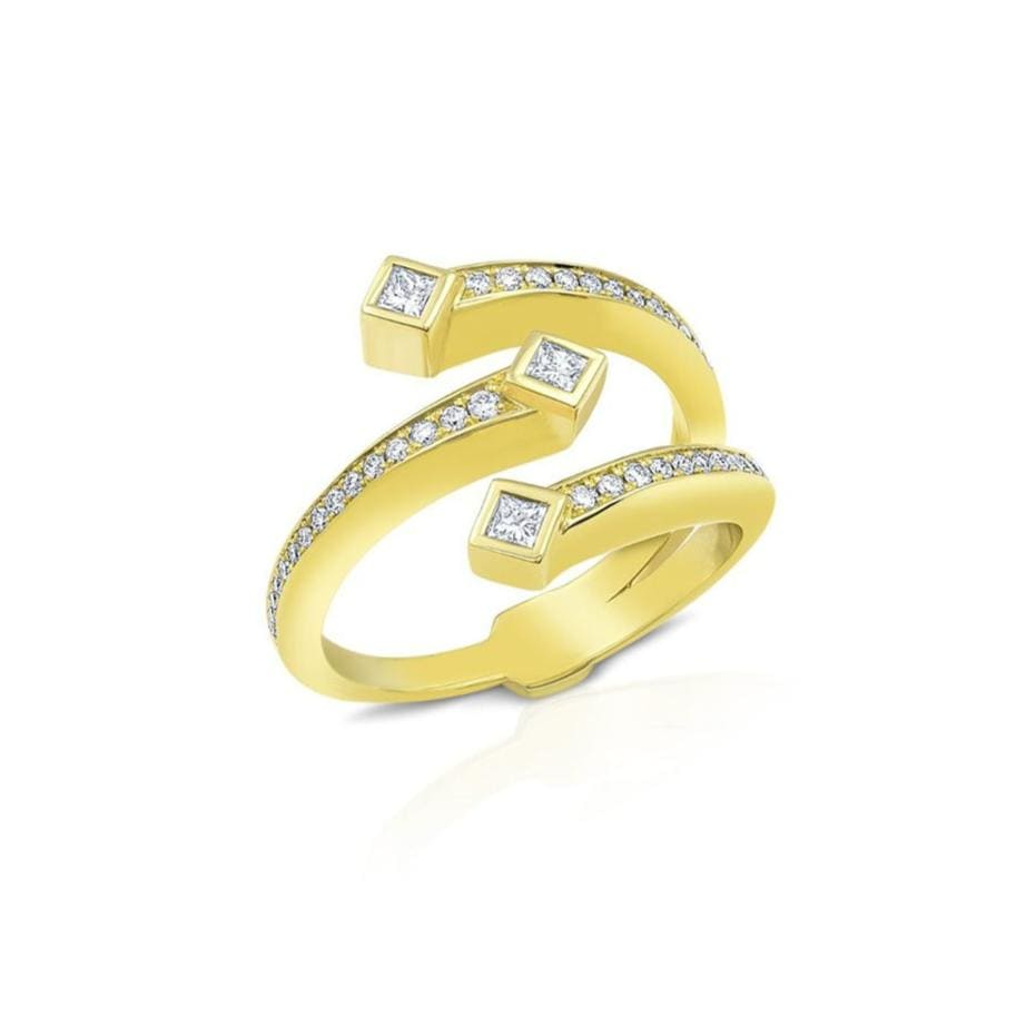 18K Diamond Open Wrap Ring