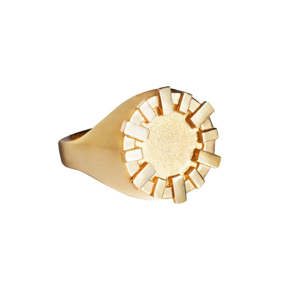 Yellow Gold Round Signet Ring