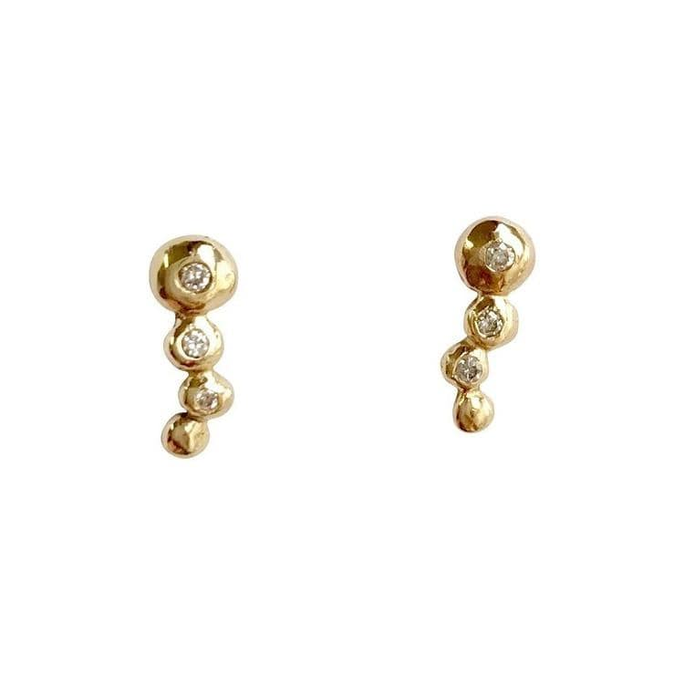 Diamond Bubble Studs
