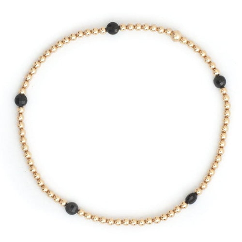 Karen Lazar Spinel Yellow Gold Bead Bracelet - Curated Los Angeles
