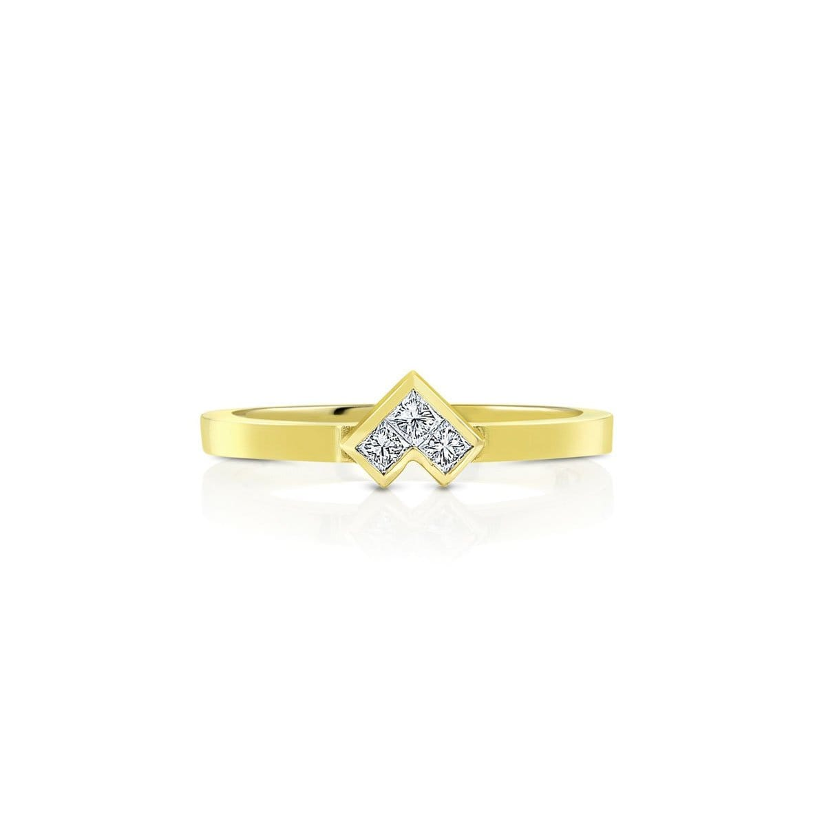 Power of 3 Yellow Gold Ring