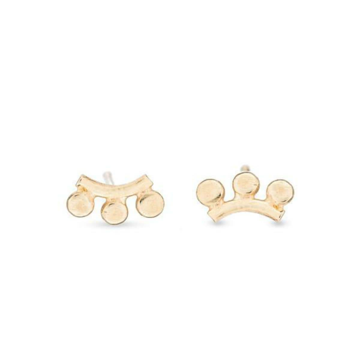 Yellow Gold Sunrise Studs