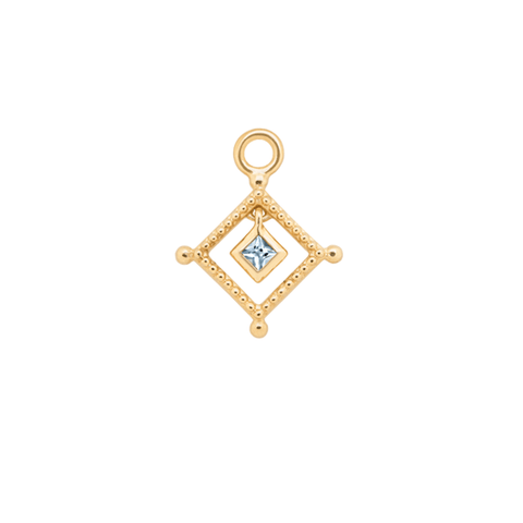 Gold Stick Hoop Charm