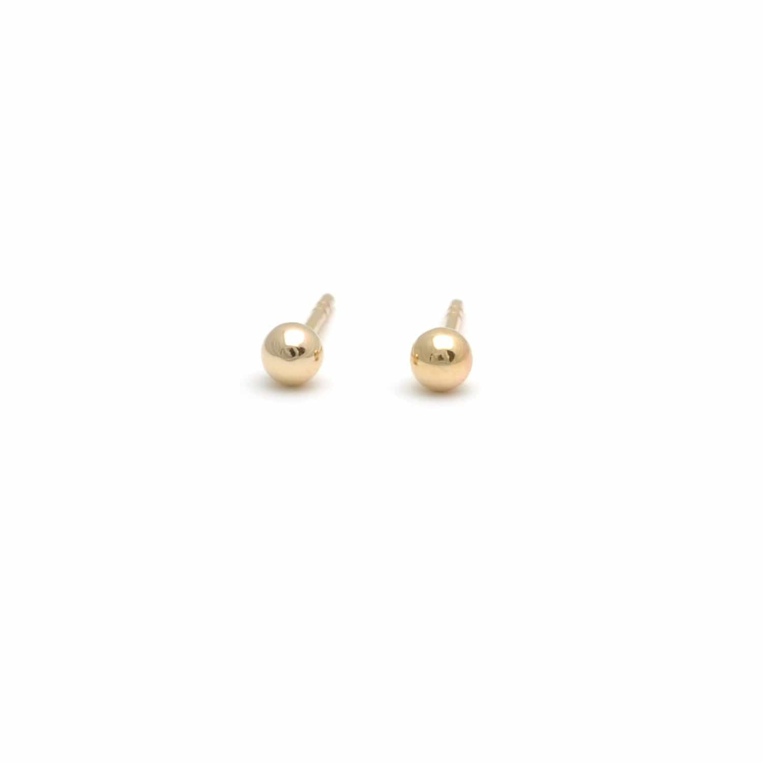 Mini Gold Ball Studs
