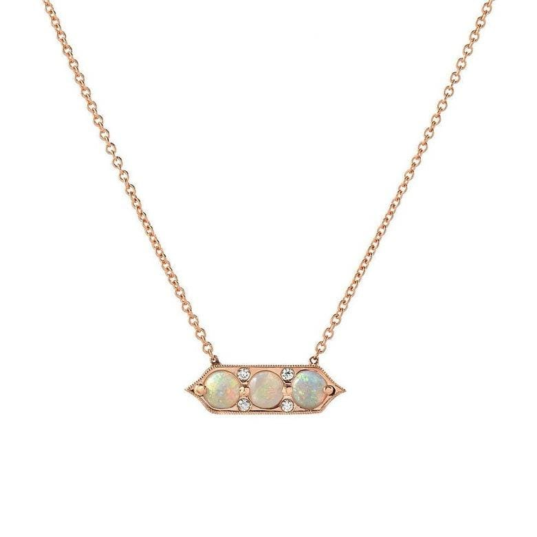 Opal and Diamond ID Necklace