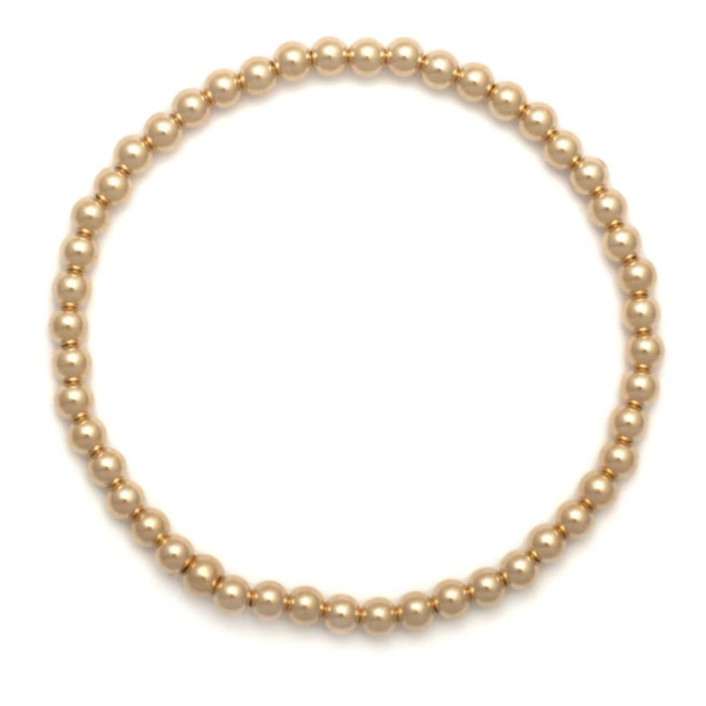 5mm Yellow Gold Bead Bracelet