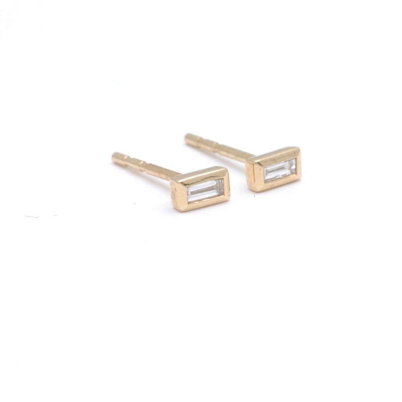 Baguette Diamond Stud Earrings