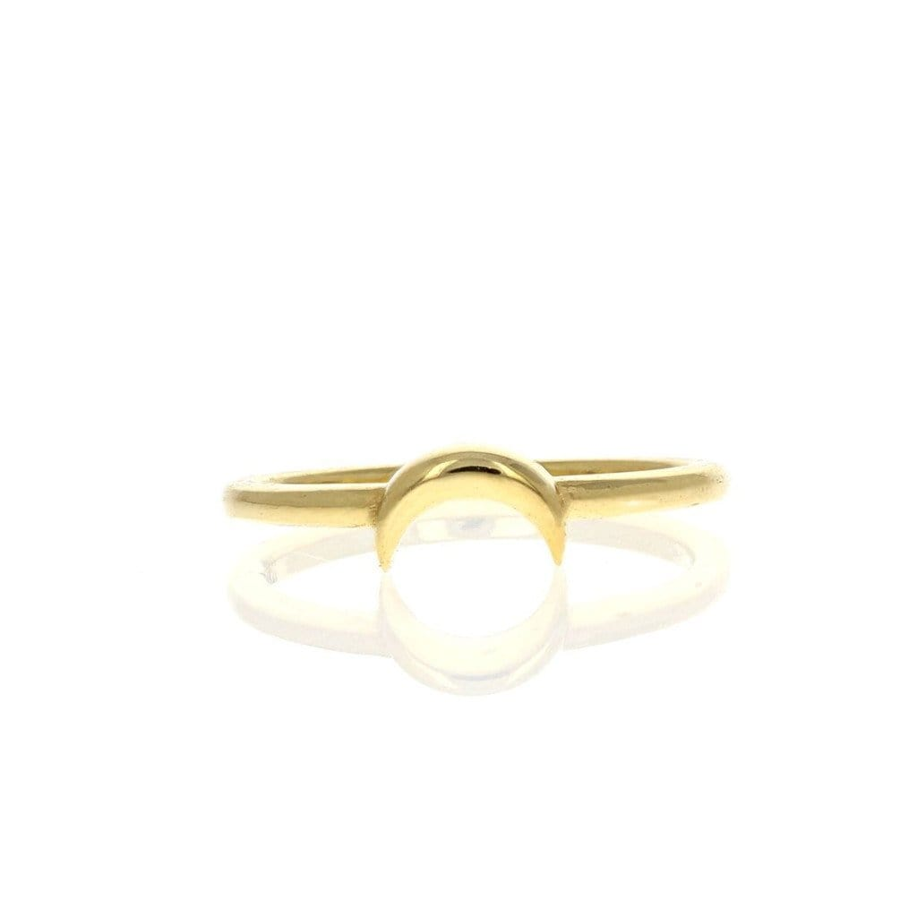 Horizontal crescent moon ring