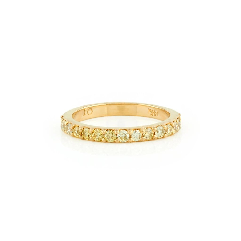 Yellow Diamond Half Eternity Ring - Curated Los Angeles