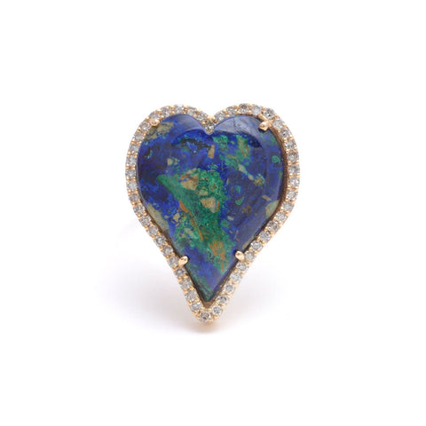 Puffy Heart Gemstone Encrusted Pendant