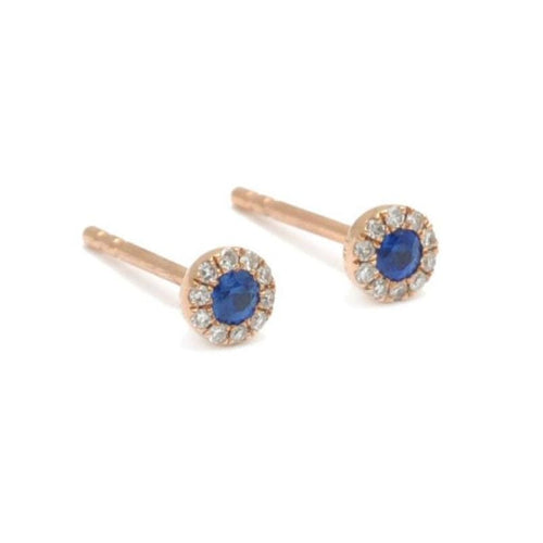 gold sapphire diamond circle earrings