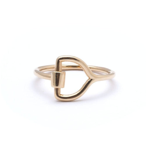 Equestrian Yellow Gold Ring