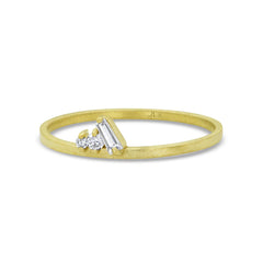 Diamond Cluster Petite Stacking Ring