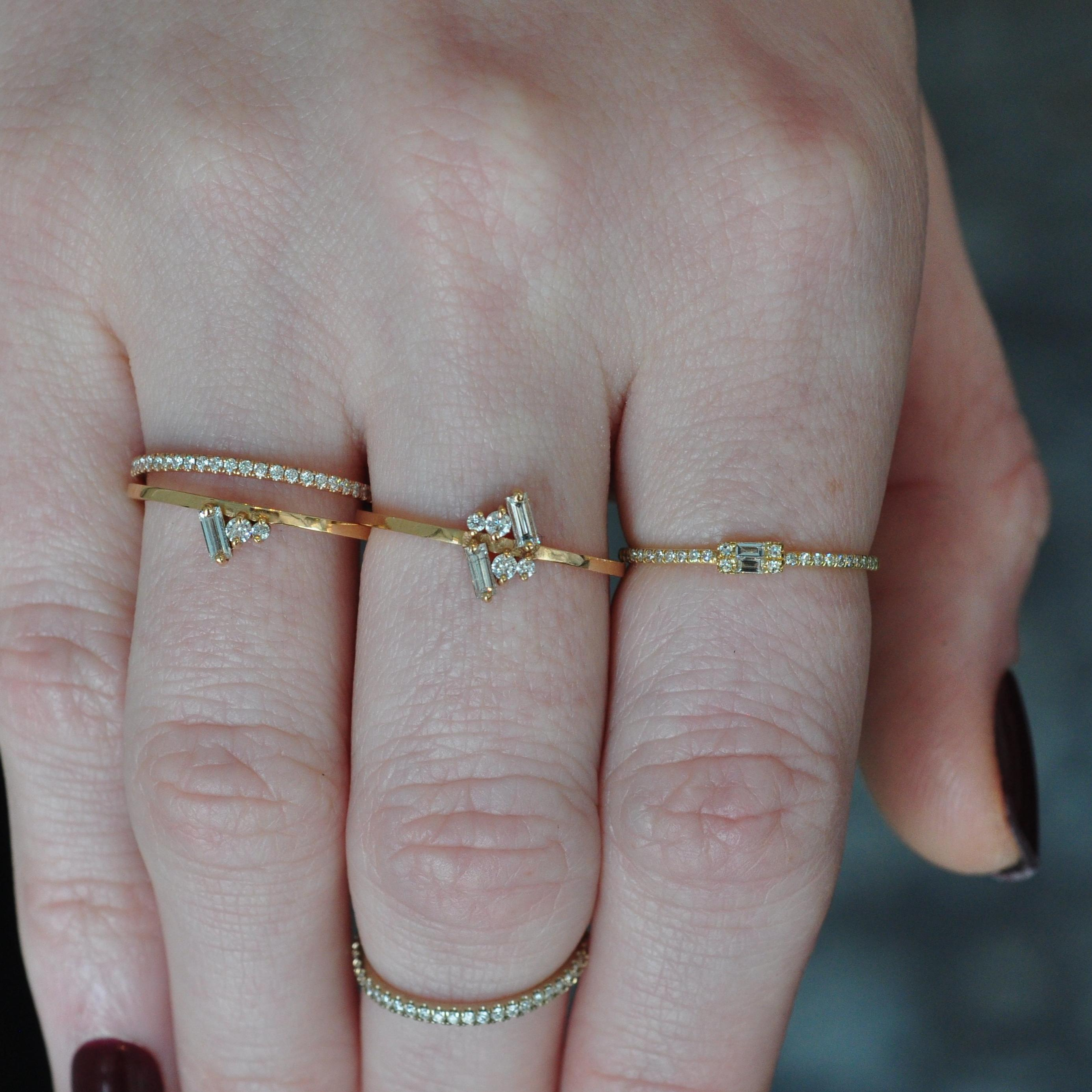Gold diamond stacking ring meredith young