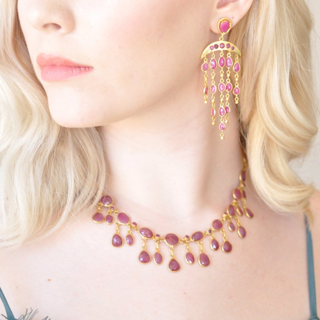 Ruby Fringe Necklace - Curated Los Angeles