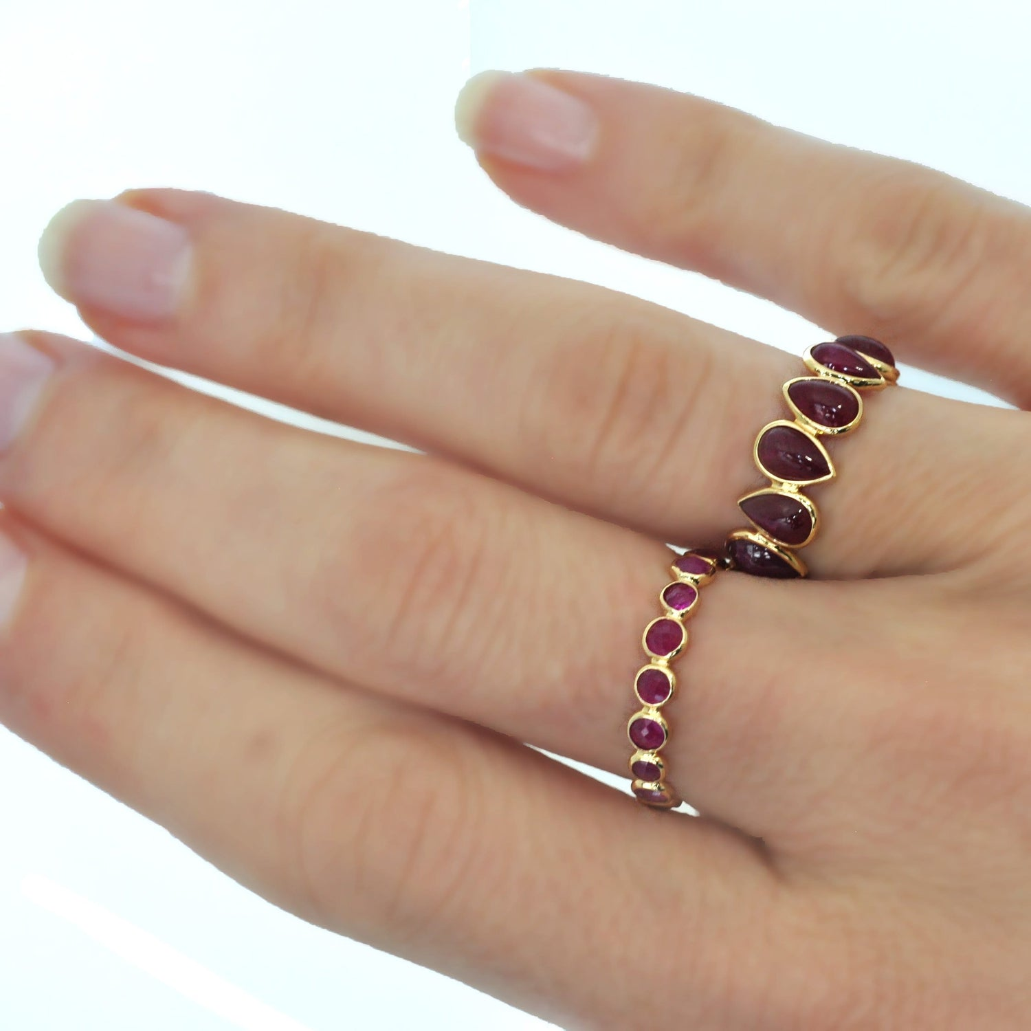 Ruby and Gold Eternity Band