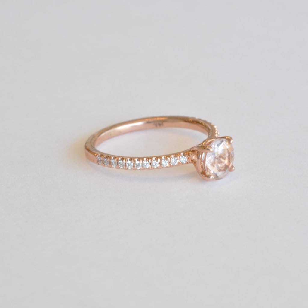 Morganite Diamond Rose Gold Ring - Curated Los Angeles