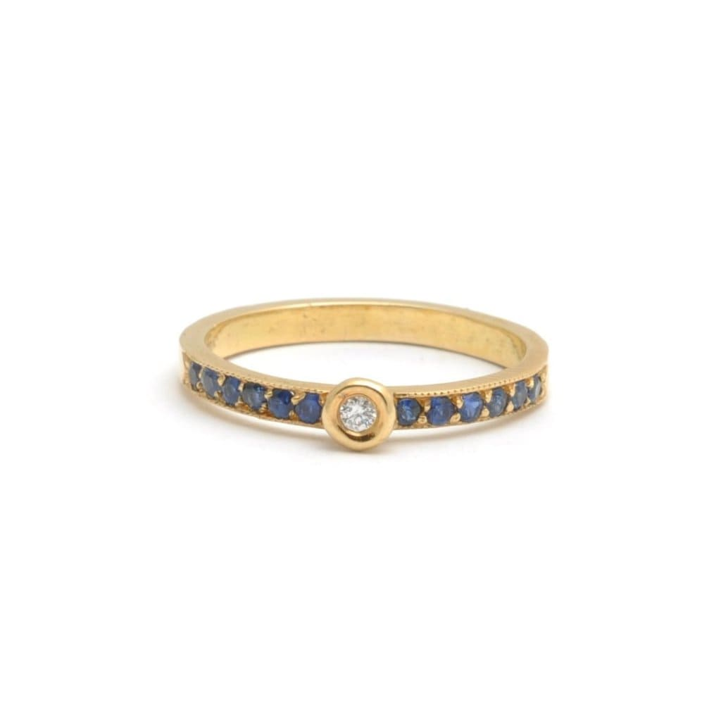 Sapphire Yellow Gold Stacking Ring - Curated Los Angeles