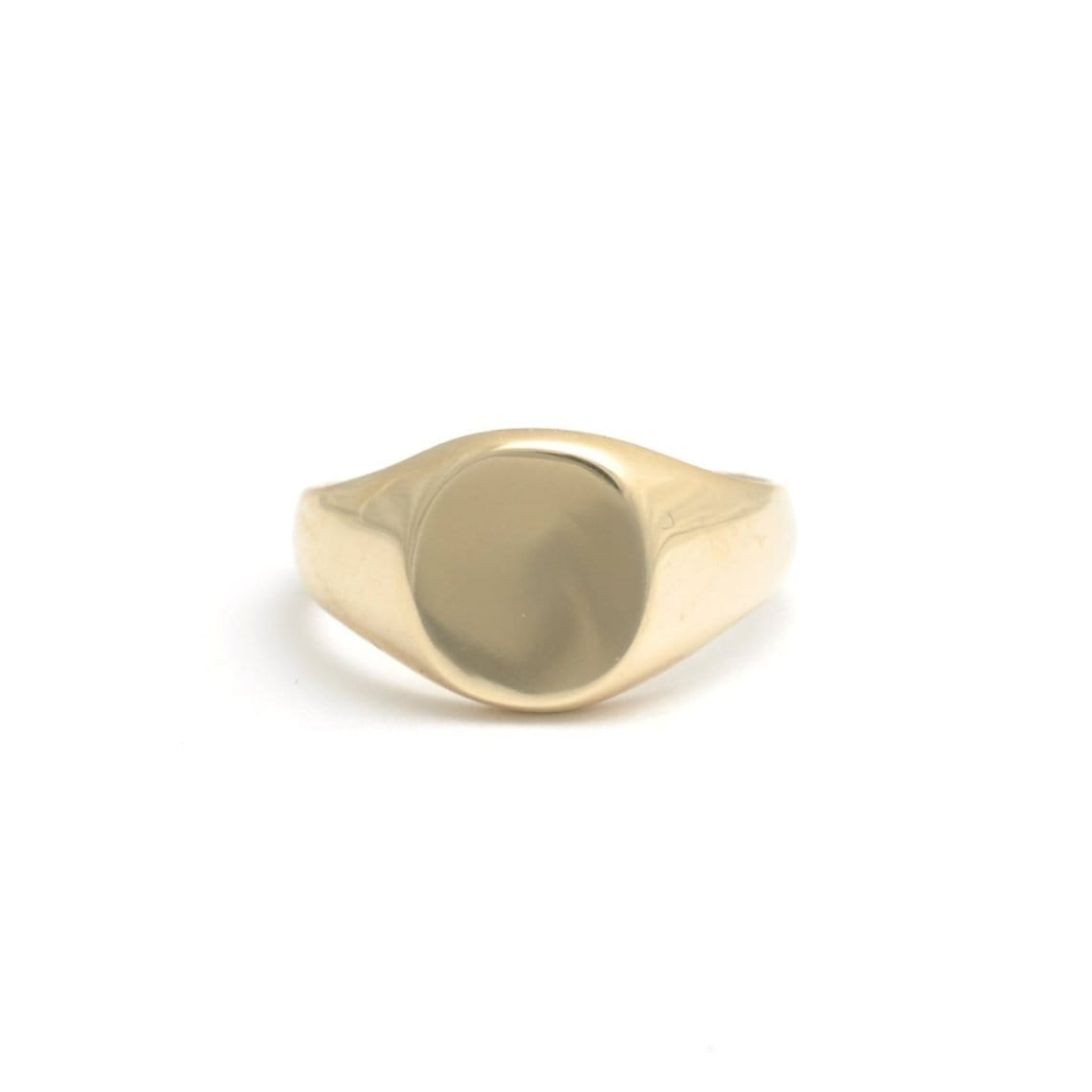 Classic Gold Oval Signet Ring Curated Los Angeles Caitlin Nicole
