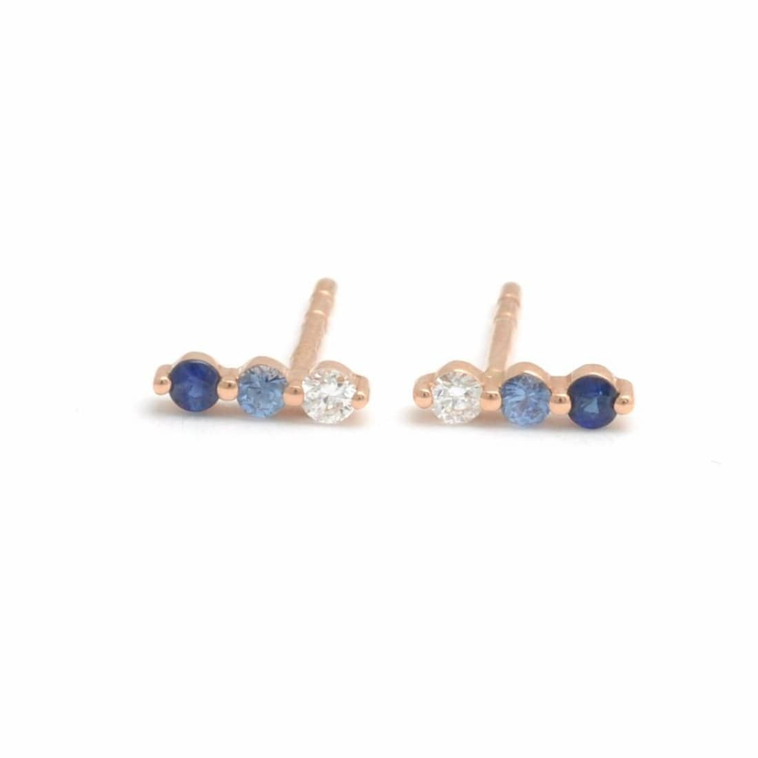 Sapphire Diamond Stud Earrings - Curated Los Angeles