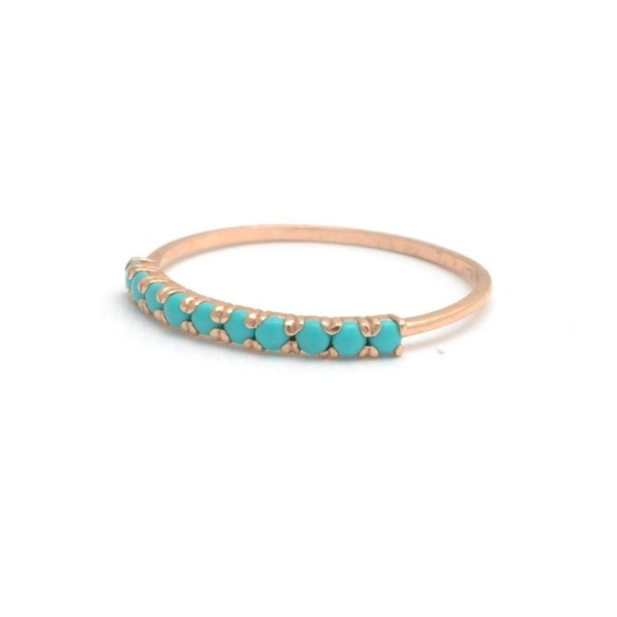 Rose Gold Turquoise Ring