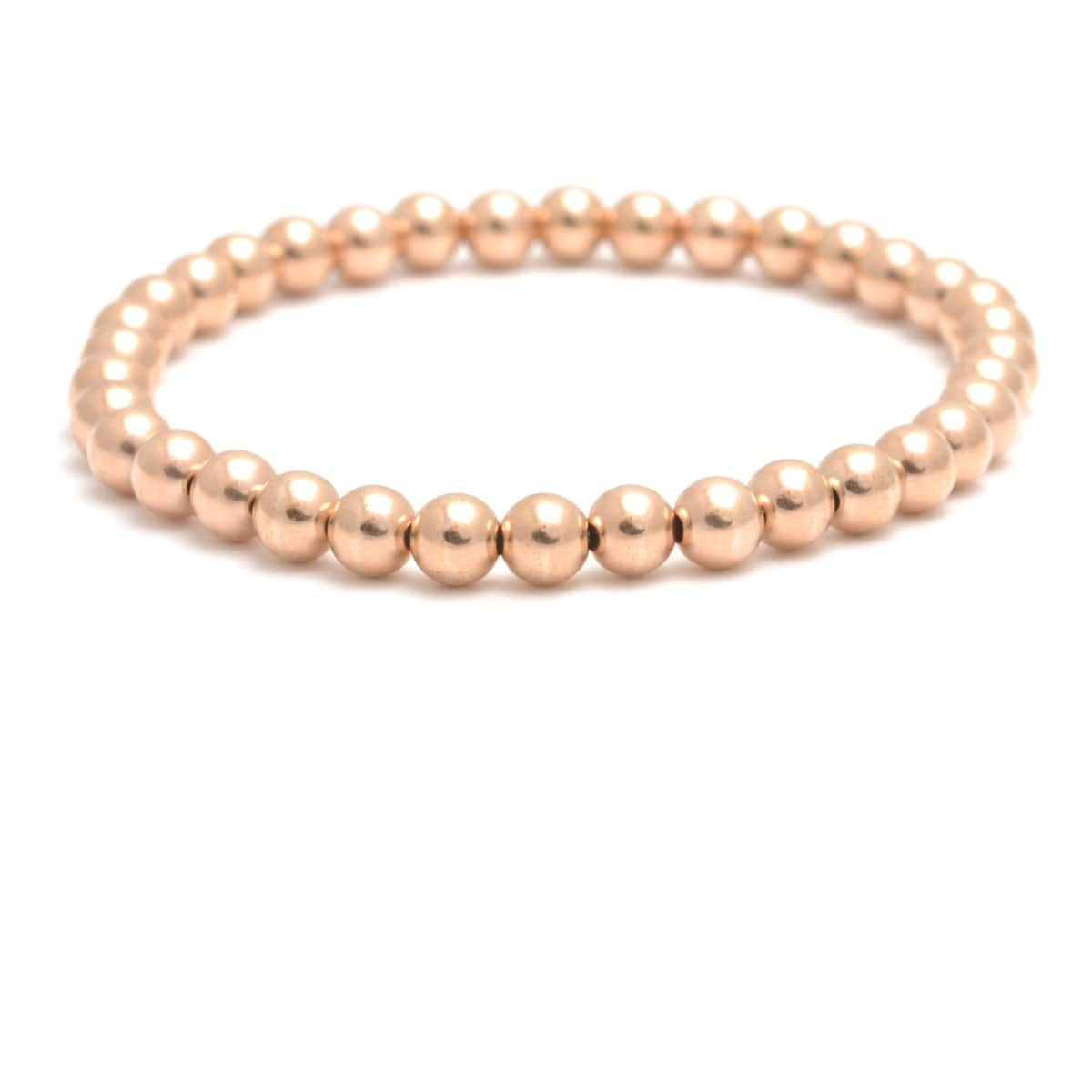 5mm rose gold round bead bracelet